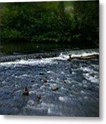 River Wye Waterfall - In Peak District - England Metal Print