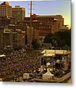 Riverfront Concert Metal Print by Diana Powell