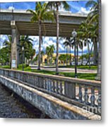 Riverfront Downtown Fort Myers Metal Print