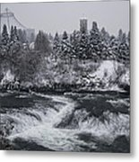 Riverfront Park Winter Storm - Spokane Washington Metal Print