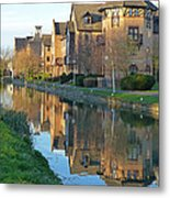 Riverside Home Reflections Vertical Metal Print by Gill Billington