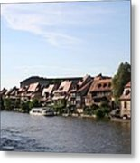 Riverside Of Bamberg - Germany Metal Print