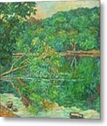 Riverview Reflections Metal Print