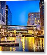 Riverwalk Shimmer Metal Print