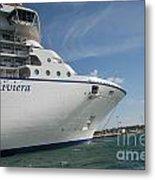 Riviera Ocean Liner Metal Print