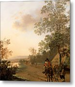 Road By The Edge Of A Lake Metal Print