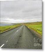 Road In Iceland Metal Print