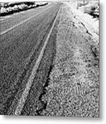Road In The Desert #1 Metal Print