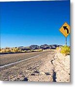 Road In The Desert #2 Metal Print