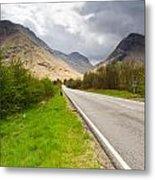 Road Into Glen Coe Metal Print