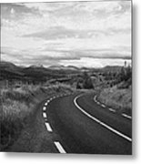 road leading to molls gap on the Iveragh Peninsula Ring of Kerry Ireland Metal Print