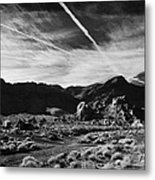 Road Past Sandstone And Limestone Fault Formations In Valley Of Fire State Park Nevada Usa Metal Print