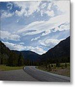 Road Through The Mountains Metal Print