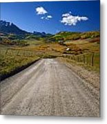 Road To A Beautiful Valley Ranch Metal Print