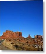 Road To Monument Valley V2 Metal Print