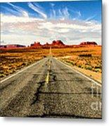 Road To Navajo Metal Print