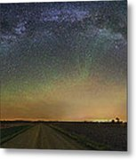 Road To Nowhere   Air Glow Metal Print