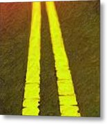 Road To Taos Metal Print
