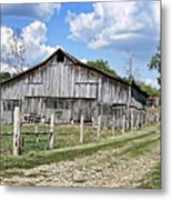 Road To The Barn - Featured In Old Building And Ruins Group Metal Print