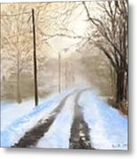 Road To The Ice House Metal Print