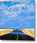 Road To The Mountains Metal Print