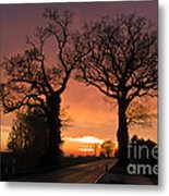 Road To The Night Metal Print