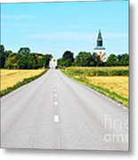 Road To The Village Metal Print
