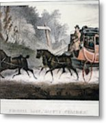 Road Travel/stagecoach Metal Print
