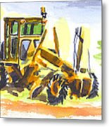 Roadmaster Tractor In Watercolor Metal Print