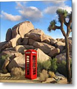 Phone Booth In Joshua Tree Metal Print