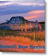 Roadside Attraction At Roswell Metal Print