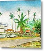 Roadside Food Stands Puerto Rico Metal Print