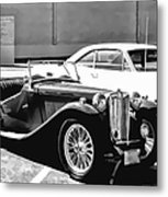 Roadster In Black And White Metal Print