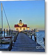 Roanoke Marches Lighthouse Metal Print