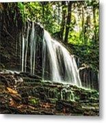 Roaring Forest Waterfall Metal Print