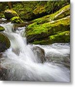 Roaring Fork Great Smoky Mountains National Park Cascade - Gatlinburg Tn Metal Print by Dave Allen