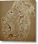 Roaring Inside Me Edited Metal Print by Kiara Reynolds