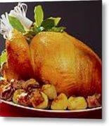 Roast Turkey Metal Print by The Irish Image Collection