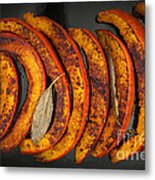 Roasted Pumpkin Slices Metal Print