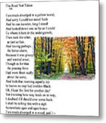 Robert Frost - The Road Not Taken Metal Print