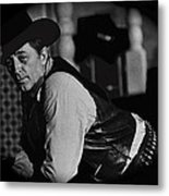 Robert Mitchum Leaning On Poker Table Young Billy Young Set Old Tucson Arizona 1969-2008 Metal Print