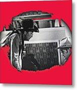 Robert Mitchum Robert Walker Confrontation Young Billy Young Set Old Tucson Arizona 1968 Metal Print