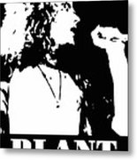 Robert Plant Black And White Pop Art Metal Print