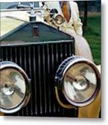 Robert Redford By A Rolls-royce Metal Print