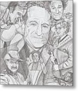 Robin Williams A Lifetime Of Laughter Metal Print by Beverly Marshall