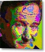 Robin Williams - Abstract Metal Print