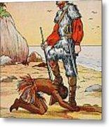 Robinson Crusoe And Friday Metal Print