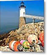 Robinson Point Lighthouse Metal Print by Adam Jewell