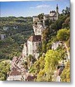 Rocamadour Midi-pyrenees France Metal Print by Colin and Linda McKie