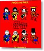 Roch and Roll  Symphony by Johan Sebastian Bach Metal Print